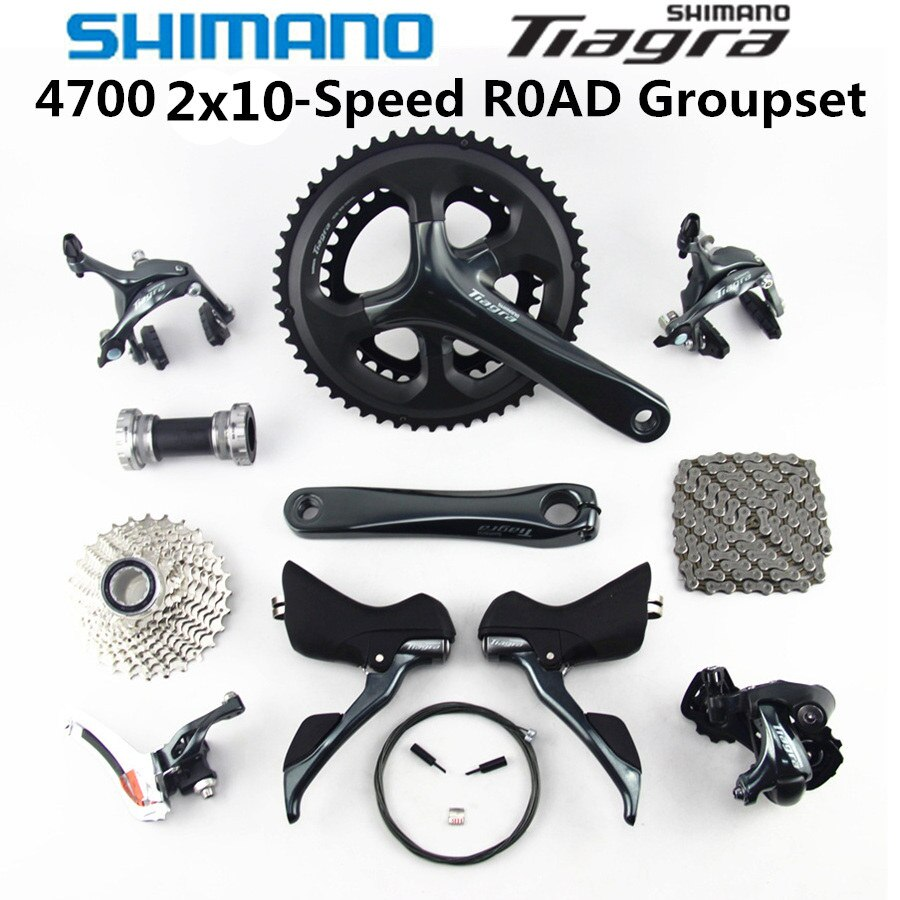 SHIMANO Tiagra 4700 grupo 4700 desviadores de bicicleta carretera 2x10 50-34 52-36T 170 de 172,5 MM 11-25 12-28 11-32T 4600 nuevo