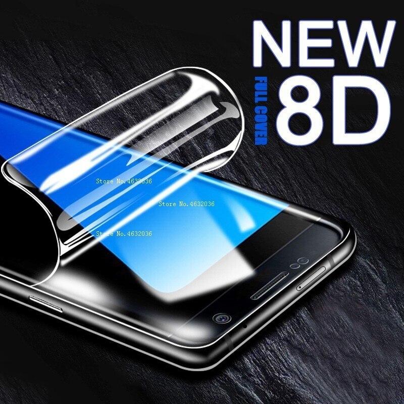 8D de la cubierta completa suave protectora película de hidrogel para Samsung Galaxy 10 20 30 40 50 60 70 80 90 M10 M20 2019 Protector de pantalla película