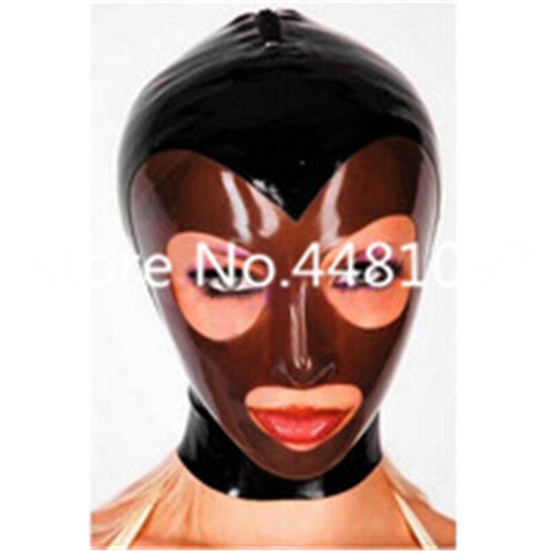 Sexy capa unisex fetiche cosplay máscara cabeça cheia máscara de látex de borracha com black & michael myers máscara transparente sexy personalizado feito