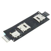 Double carte SIM + lecteur support connecteur fente câble flexible 5.5 pouces pour ASUS ZenFone 2 ZE551ML ZE550ML accessoires de téléphone