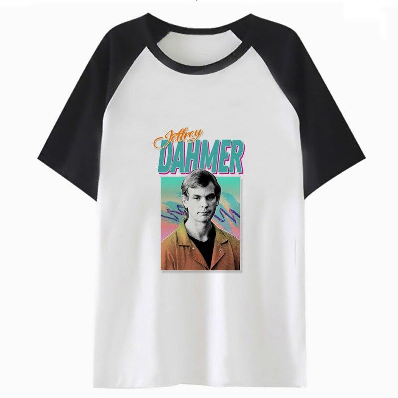 Camiseta de true crime, parte de arriba, ropa informal de hip-hop, camiseta divertida para hombre, camiseta para hombre, harajuku H2478