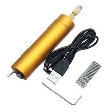 Heißer Verkauf DC 5V DIY Mini Micro Elektrische Aluminium Hand Bohrer 0,8-1,5mm für Motor PCB mit 10Pcs Twist Bohrer
