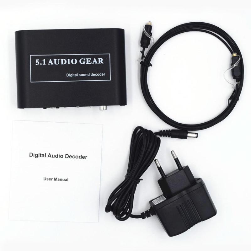 5,1 decodificador de Audio Digital Audio DTS/AC3/6CH convertidor de Audio Digital LPCM a 5,1 salida analógica HD jugadores/DVD/XBOX360