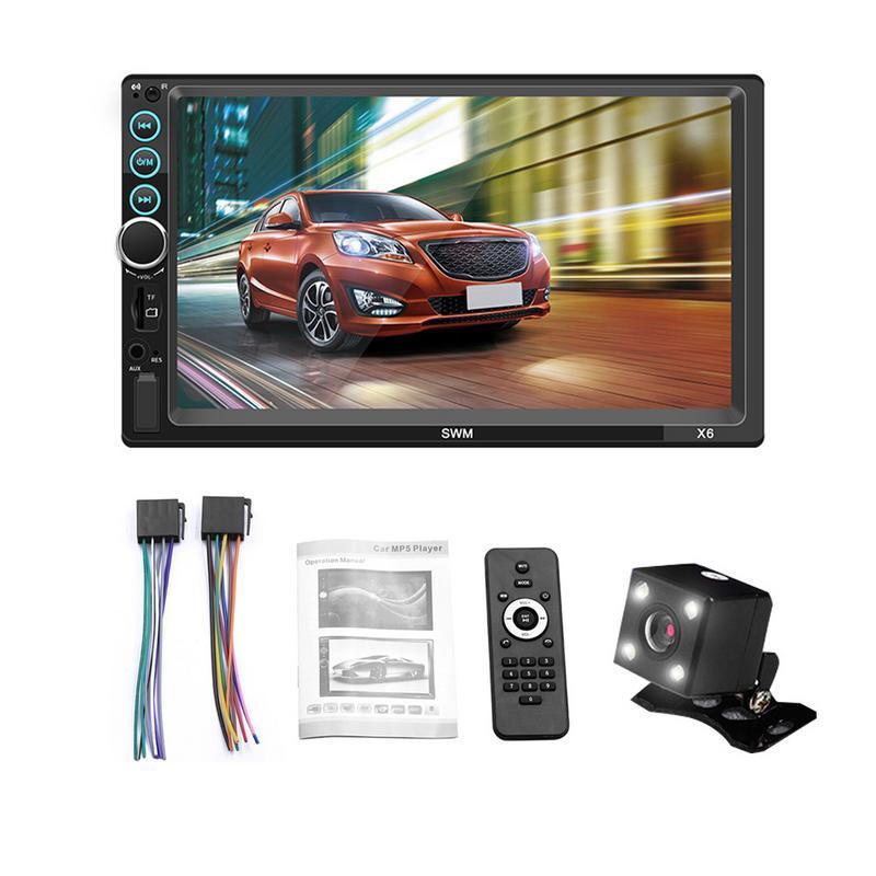 Reproductor de coche MP5 2 DIN pantalla táctil Bluetooth coche FM Radio Audio Cámara estéreo compatible con Android IOS sistema de conexión de imagen
