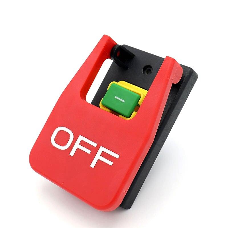 Interruptor de botón de parada de emergencia con cubierta roja apagada 16A interruptor de encendido/protección de bajo voltaje interruptor de arranque electromagnético