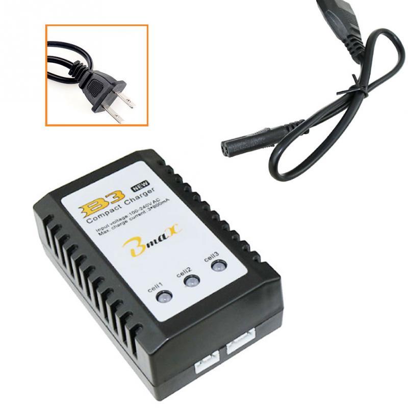 US/EU Plug B3 7.4V 11.1V Lithium Battery Charger 2S-3S Cells For RC Drone Quadcopter
