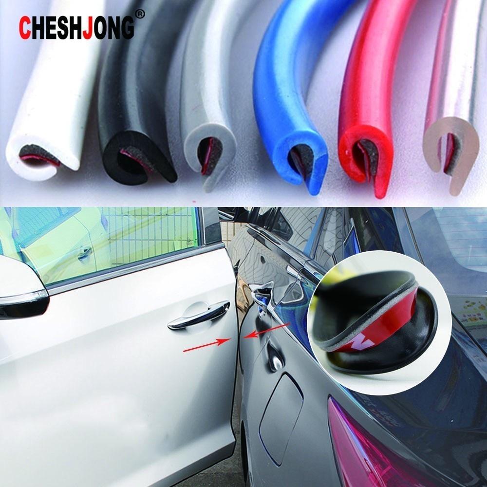 5M Rubber Car Door Trunk Lip Edge Seal Protectors Seal Strip Push-on Waterproof Anti-Noise Moulding Trim Strips Auto Styling