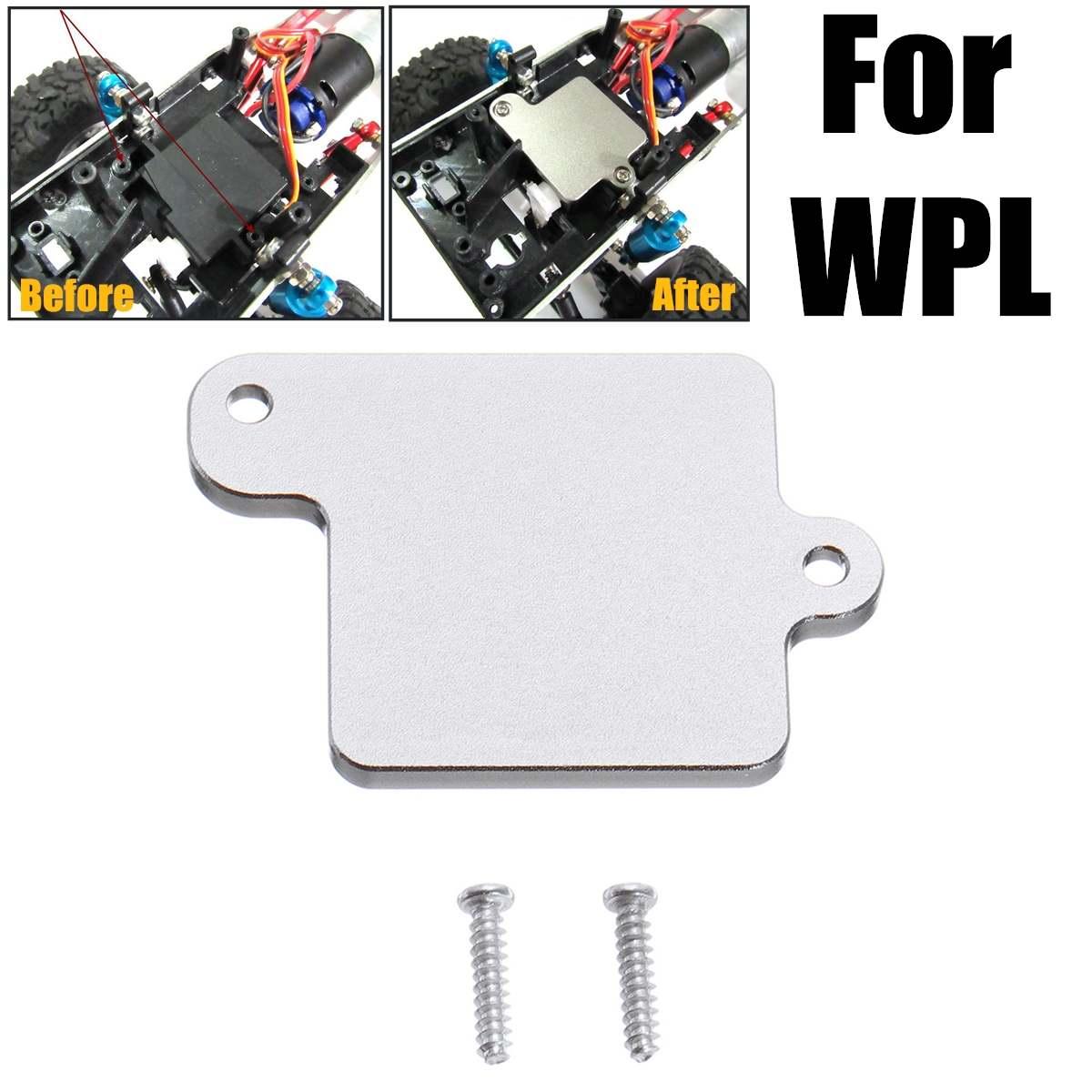 1 Uds. Reemplazo de hoja de fijación de engranaje de dirección de Metal tornillos de actualización DIY maqueta modificada de juguete para accesorios de la serie WPL pieza de coche