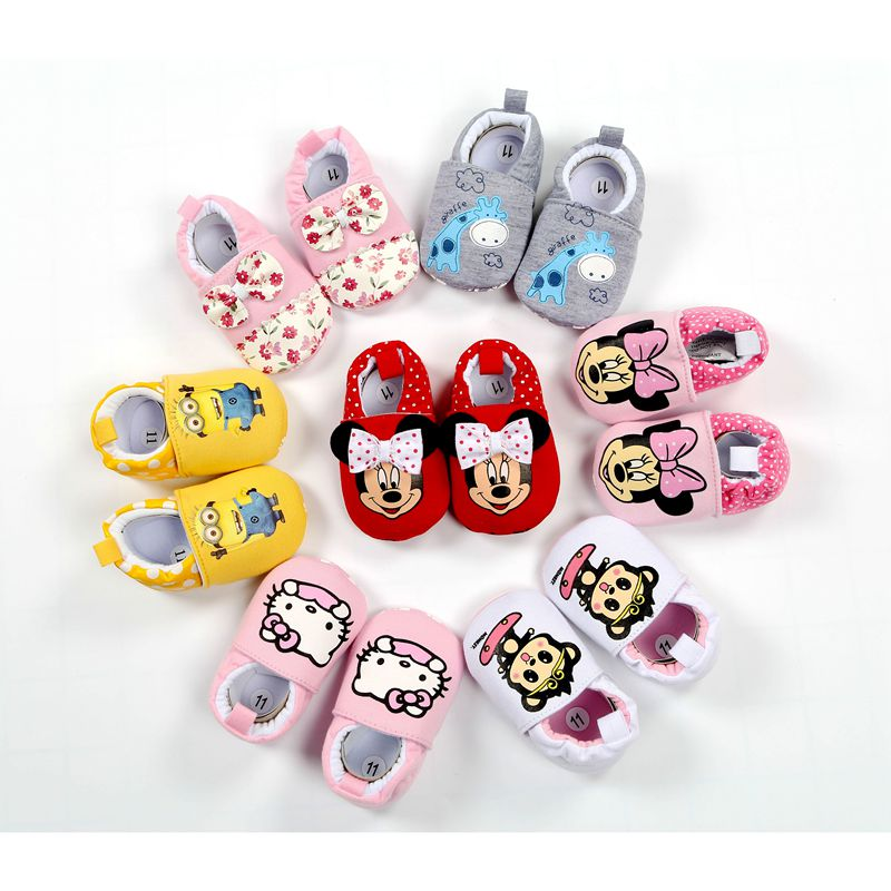 2019 New Baby Infant Shoes 0-18M Boys Girls Casual Soft Cartoon High Quality Spring Autumn Fashion First Walkers