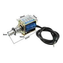 Dispositif de pression à traction 12V cc DC24V 300mA 3.6W 4N 10mm   Type poussée à traction, électroaimant à mouvement linéaire