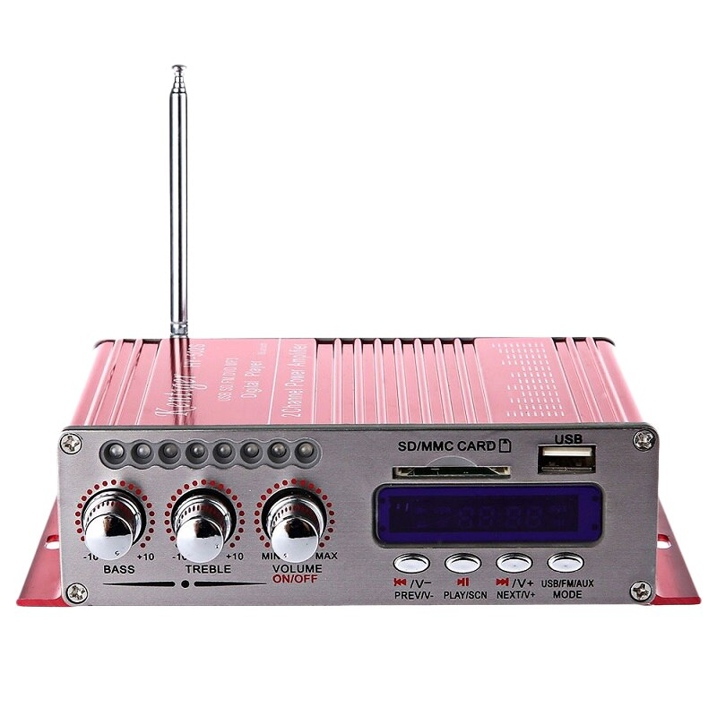 Ams-kentiger quente Hy-502S 2ch bluetooth hi-fi super bass saída de potência amplificador estéreo com controle remoto usb/cartão sd playe