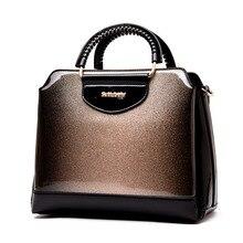 Mode brillant lamellé femme fourre-tout sac à bandoulière 2019 nouveau brevet en cuir sac de messager dames bureau travail sacs à main marques célèbres