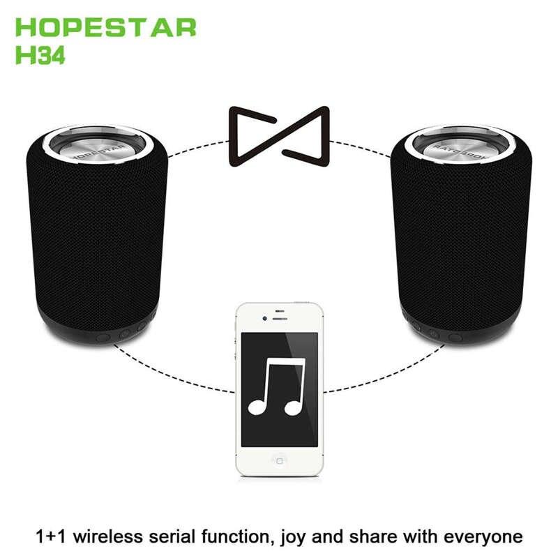 Hopestar H34 Мини Bluetooth динамик Портативный беспроводной водонепроницаемый Handfree Hifi стерео бас-плеер внешний аккумулятор поддержка Usb Tf Fm