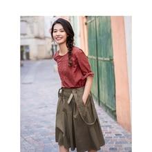 INMAN Summer High Waist Slim Retro Korean Fashion Student Style All Matched A-line Women Strap Skirt