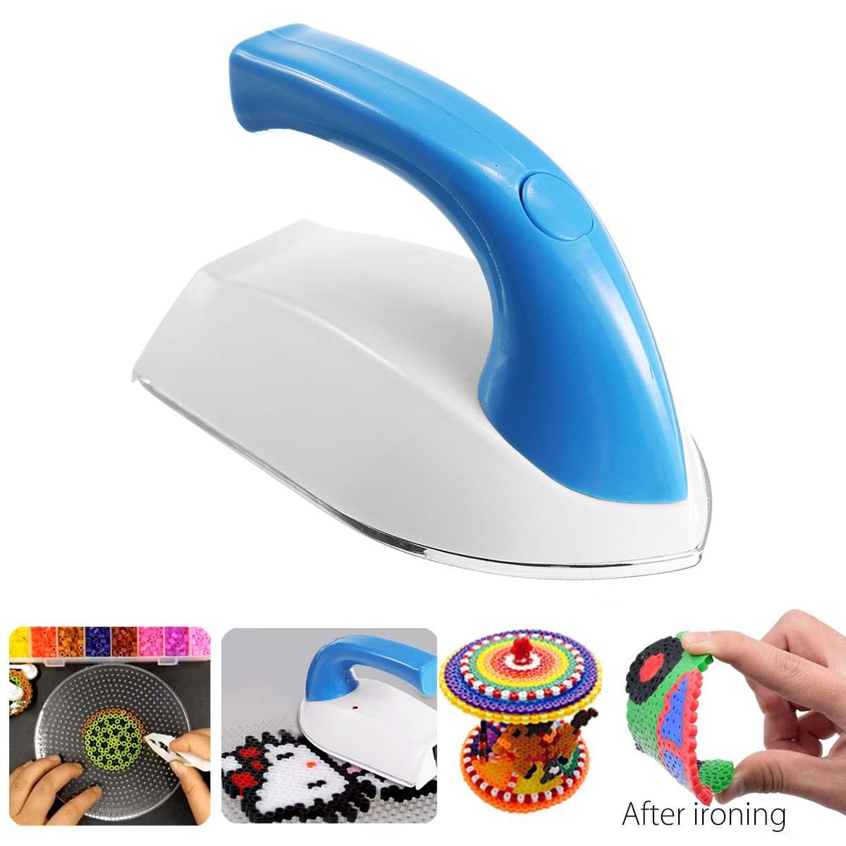 Enchufe europeo DIY Mini plancha eléctrica para Hama cuentas plantilla para Hama puzles cuentas de Melty Pegaboards perler cuentas accesorios de herramienta