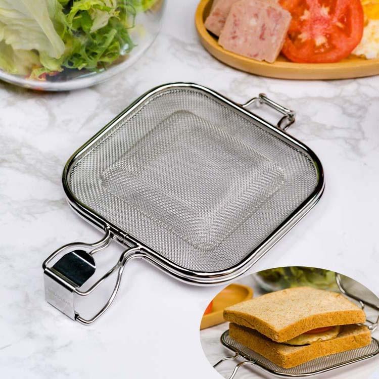 Stainless Steel Sandwich Maker Baking Mold Bread toaster Breakfast Machine Bread Cake Tool