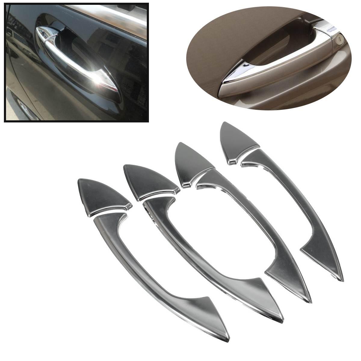 Para Mercedes-Benz B C E GLK ml clase W204 W212 X204 W166 W117 W218 W246 2006-2011 8 unids/set cubierta cromada de manija de puerta trim