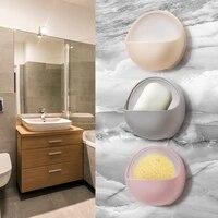 Boite a savon a ventouse creative  porte-savon en plastique  support de rangement  accessoires de salle de bains