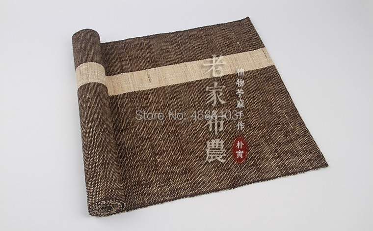 Mantel de lino japonés Natural Ramie 150x40cm, toalla de té, paño de té de color verde, servilletas de tela de té, decoración de té