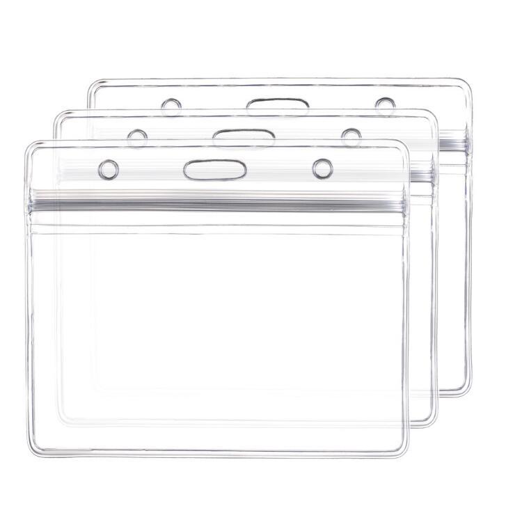 10 unids/set Vertical Horizontal transparente plástico borra la caja de la tarjeta de identificación insignia titular Accesorios