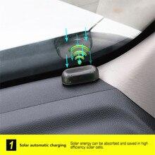 Solar Usb Power Car Alarm Licht Anti-Diefstal Waarschuwing Flash Knippert Nep Auto Led Licht Flash Knippert Lamp Rood blauw Nieuwe Update