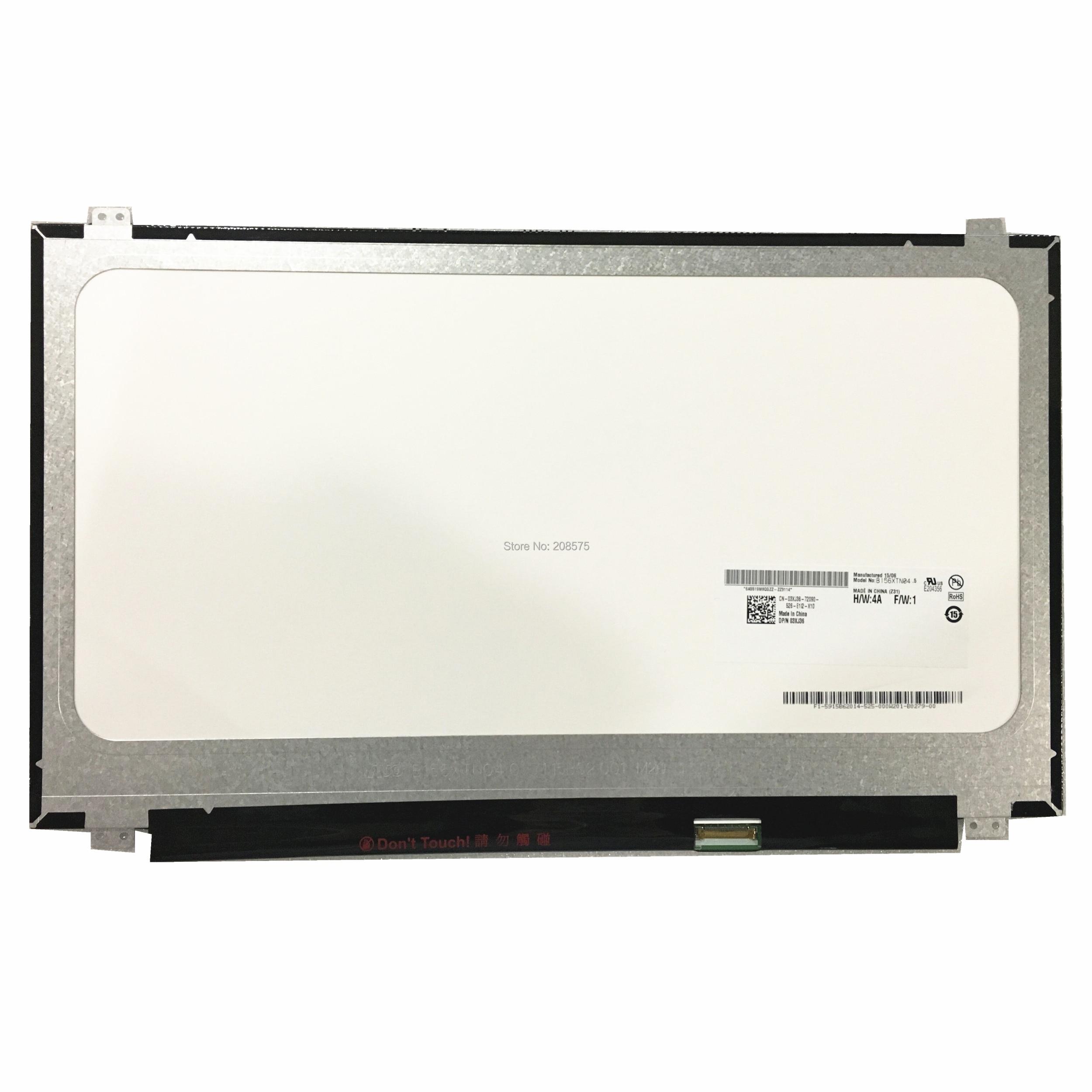 شحن مجاني B156XTN04.5 B156XTN04.1 B156XTN04.6 B156XTN04.4 B156XW04 V.7 N156BGE-EB2 E32 محمول LCD شاشة 1366*768 EDP 30pin