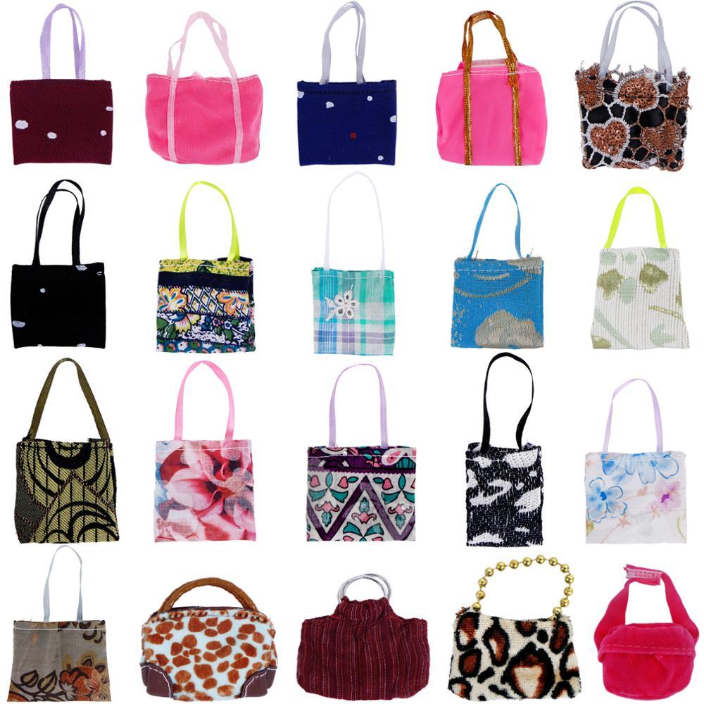 10x bolso al azar/bolso/mochila/chica ropa Casual diaria vestido accesorios de tela ropa para muñeca Barbie de juguete