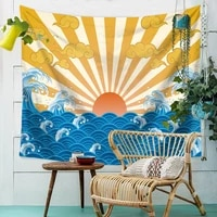 japanese style tapestry wall hanging boho decor wall cloth tapestries yoga mat hippie throw rug blanket wall tapestry carpet
