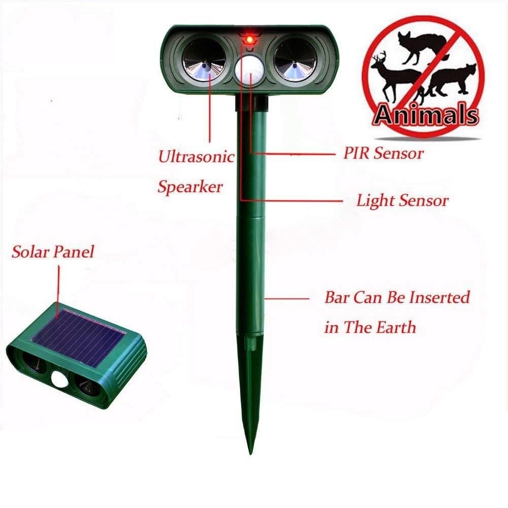 1 pièces répulsif solaire chat répulsif Scarer double Ultra dissuasif jardin Animal Chaser