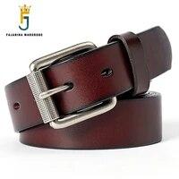 fajarina retro alloy buckle metal belt solid cowhide layer casual jeans cow skin leather belt for men jeans styles 2019 n17fj725
