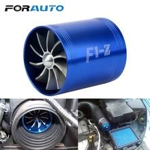 Forauto Auto Supercharger Gas Fuel Saver Fan Auto Air Intake Dubbele Turbine Turbo F1-Z Voor Voertuig Motor Auto Modificatie