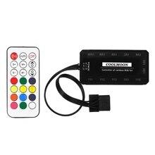 Coolmoon remoto rgb led controlador de luz