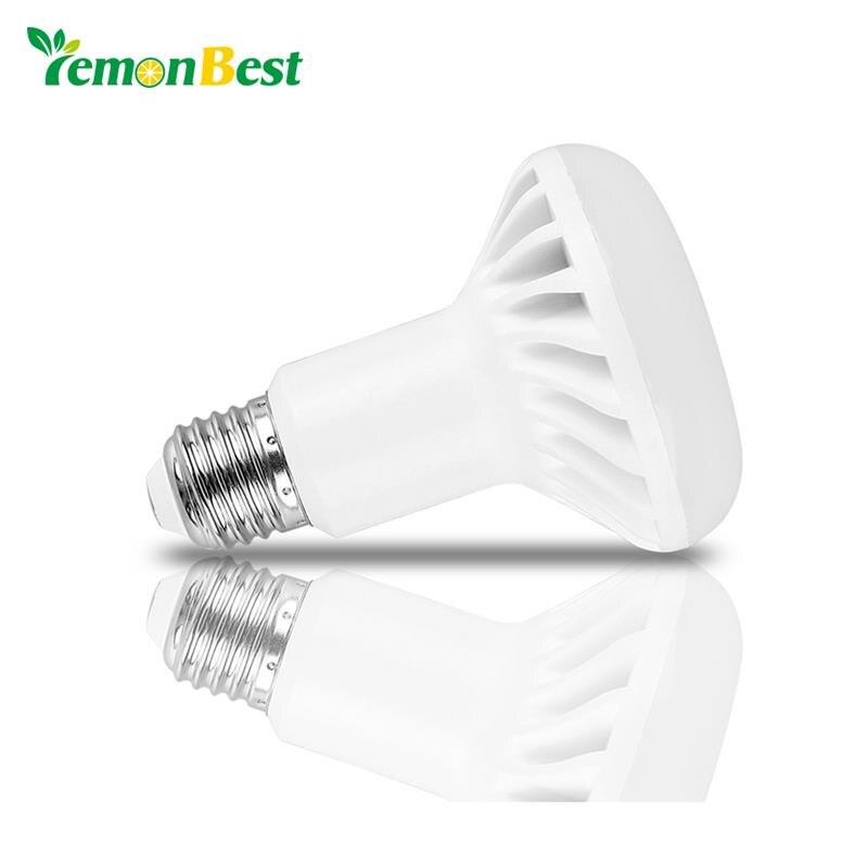 LemonBest E14 E27 bombilla LED para lámpara SMD 5730 R39 R50 R63 R80 5W 7W 9W 12W llevó la luz del punto AC 220V 110V foco
