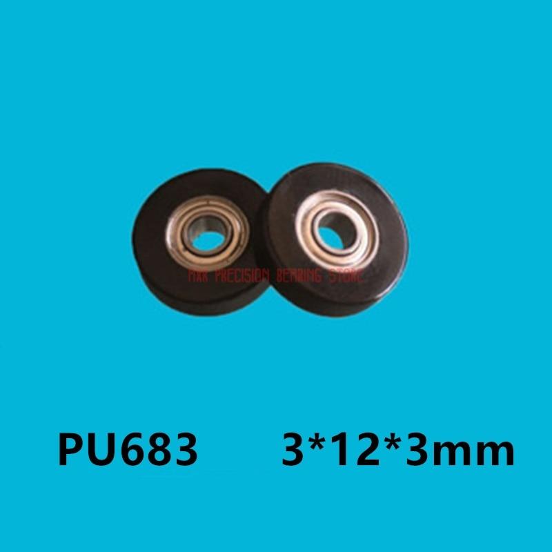 2021 هرع قمة الموضة بكرة صغيرة عجلة بولي يوريثان قطعة تحمّل صغيرة 683 حقيبة بلاستيكية القطر الداخلي 3*12*3 مللي متر