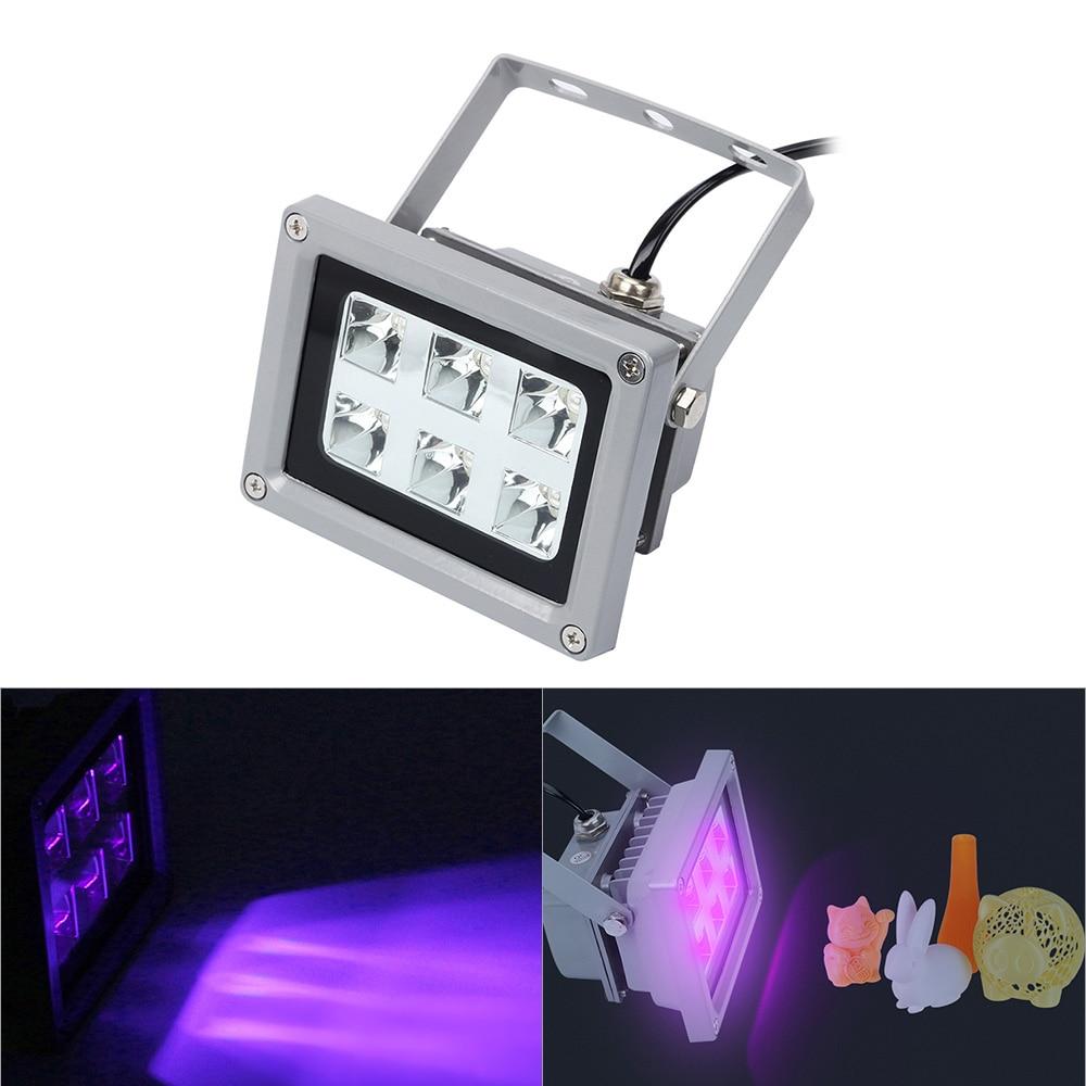 Lámpara de luz de curado de resina UV para impresora SLA/DLP 3D, resina fotosensible sólida, 6 uds., luces LED UV de 405nm con efecto de salida de 60w