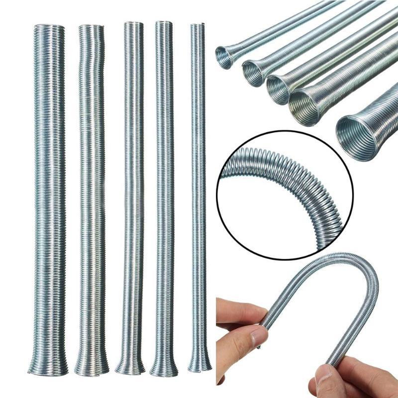 Doblador de tubos de cuerda elástica Manual de PVC, 5 uds., muelles curvos, dispositivo de doblado de tubos, herramientas hidroeléctricas