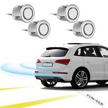 1 set of 4pcs Sensors Buzzer 19mm Car Parking Sensor Kit Reverse Backup Sound Alert Indicator Probe System 12V