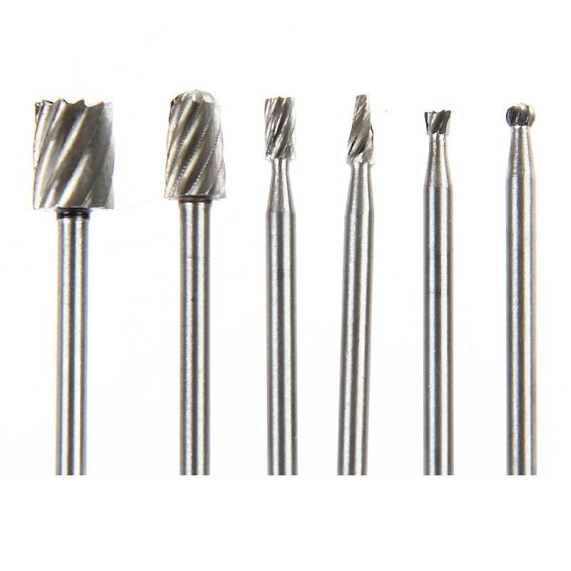 6 stücke Dremel Rotary Werkzeuge HSS Mini Bohrer Set Schneiden Routing Router Schleifen Bits Fräser für Holz Carving cut Werkzeuge