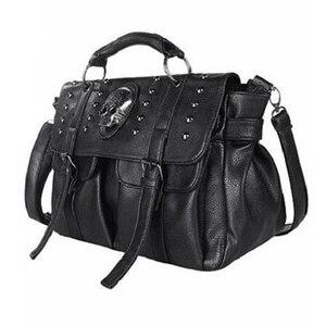 ABDB-Shoulder Bag Lady Fashion Bag Designer Punk Skull Rivet Bag All-Match Women's Handbag Black Big Tote Bag