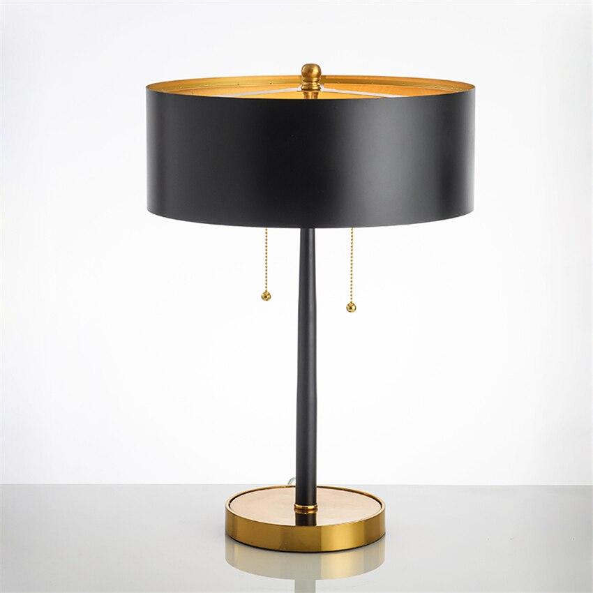 Lámparas LED de Metal nórdico para mesa, decoración de oficina, pantalla de tela, lámparas de escritorio, lámparas de lectura de cabecera para dormitorio, lámparas de mesa, accesorios de cocina, Avize