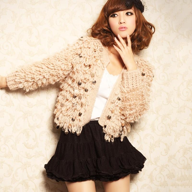 Sweaters Mohair New Fashion Women Sweater Knitted Cardigan Female Korean Cashmere Warm Sweater Women Winter Ladies Jumper Tops
