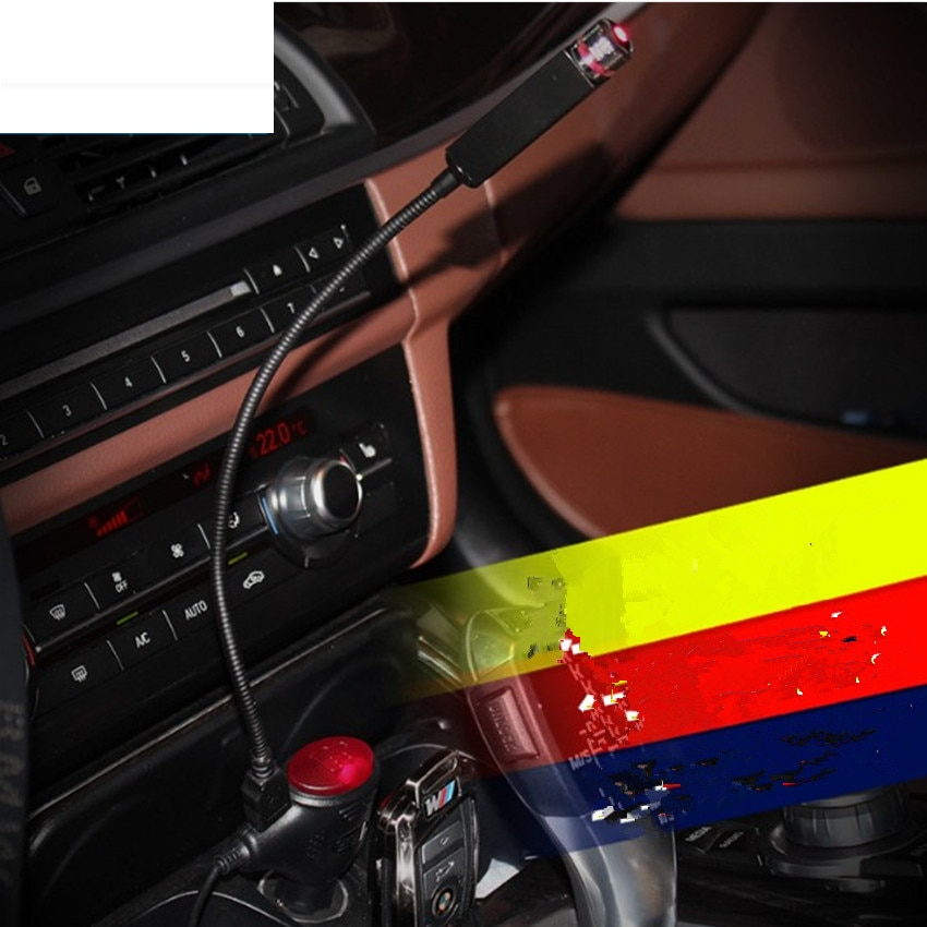 Luz de coche, luz de ambiente USB Interior de coche para opel insignia de renault golf 4 seat leon fr golf 5 mercedes opel astra h bmw e39
