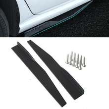 74.5cm Universal Car Side Skirt Rocker Splitters Winglet Diffuser Wings Black/Red/Carbon Fiber Look Bumper Lip Body Side Skirts