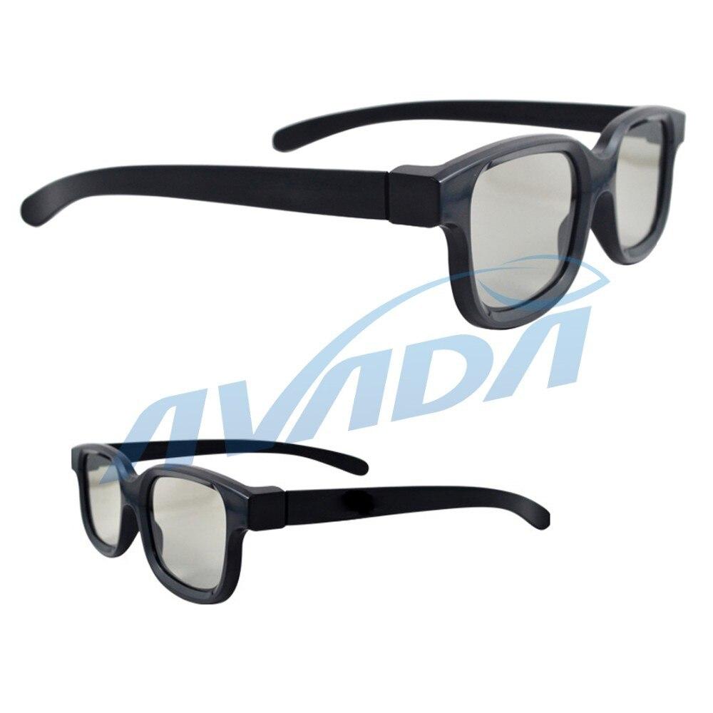 Envío Gratis 50 unids/lote 3D vidrios polarizados lineales 45/135 grados polarizadas lineares 3D gafas