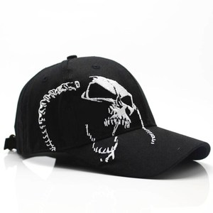 2019 High Quality Unisex 100% Cotton Outdoor Baseball Cap Skull Embroidery  Fashion Sports Hats For Men & Women Cap