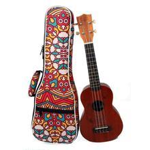 23 pouces Motif Tropical Style Ukulélé Guitare Sac À Dos Double Bandoulière Coton Doux Rembourré Ukulélé Housse de transport