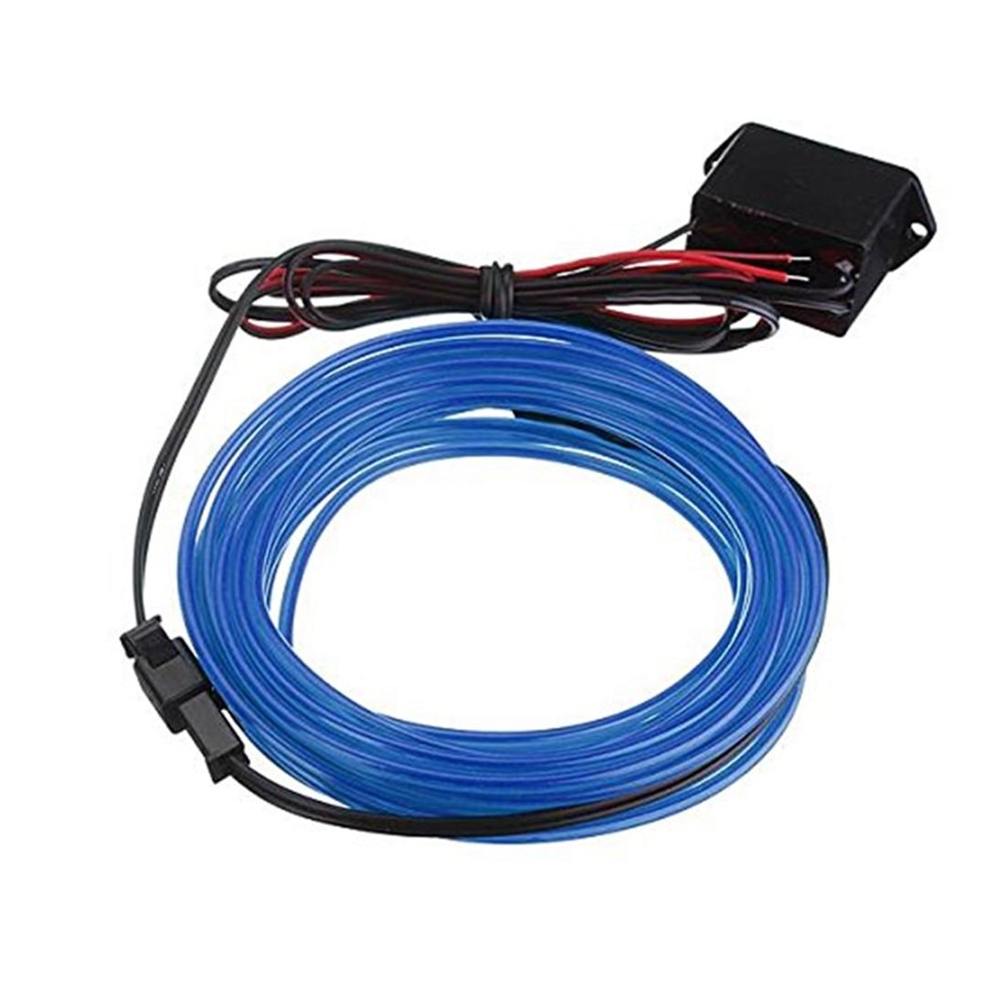 2M EL Cable DC 12V luces de neón flexibles para fiestas de Navidad Rave fiestas Halloween Disfraces tienda minorista Display (azul)