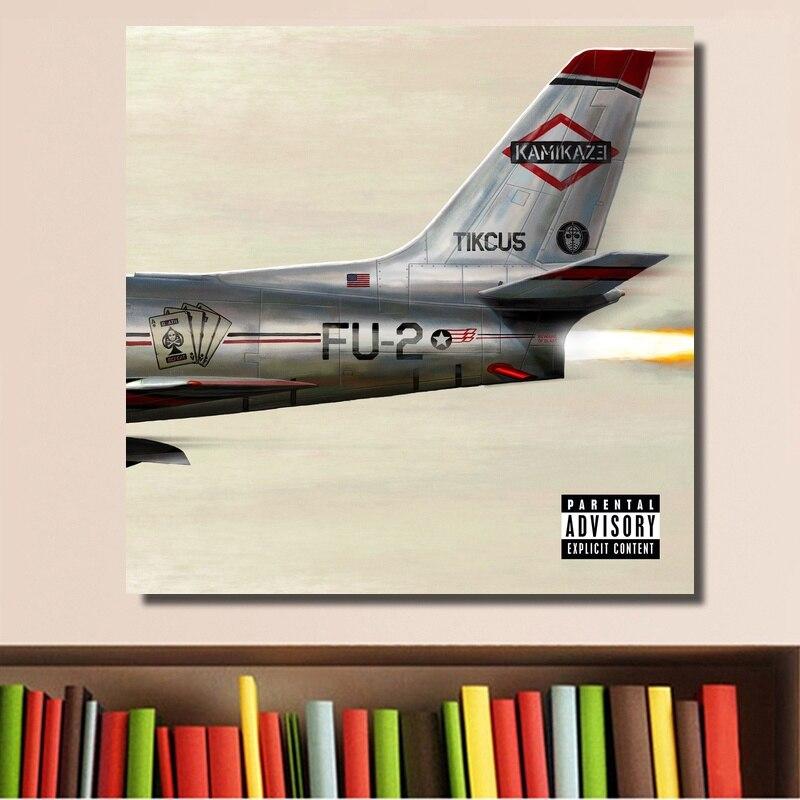 Póster de Eminem Kamikaze de 2018, Impresión de portada de música para álbum en lienzo, decoración de pared para el hogar, sin marco