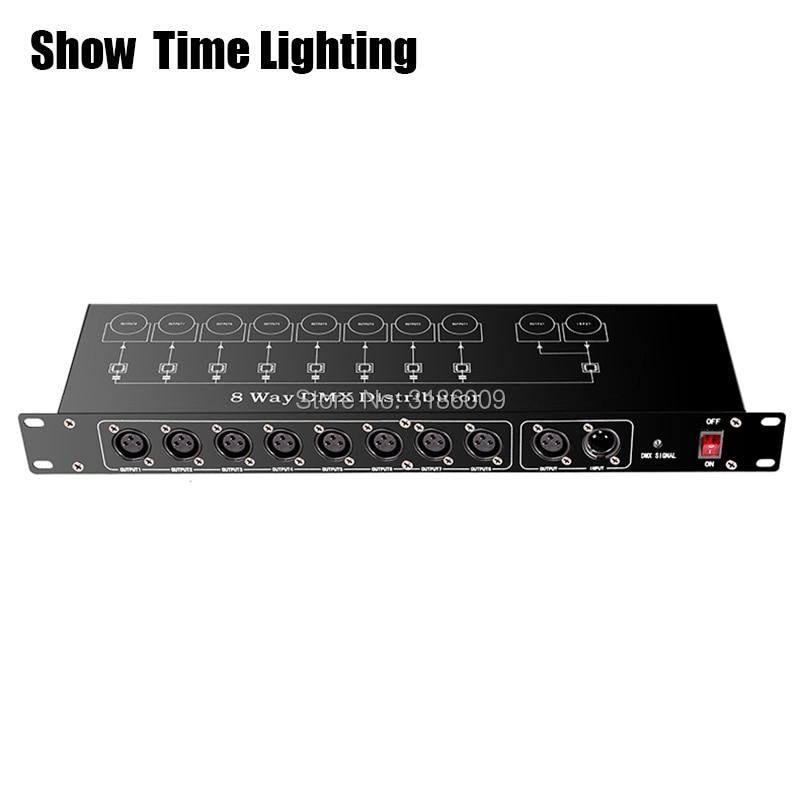 Tonen Tijd Stage Light Controller DMX512 Splitter Licht Signaal Versterker Splitter 8 Manier Dmx Distributeur Voor Stadium Apparatuur