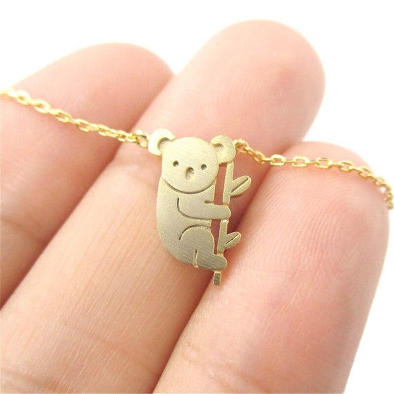 Koala ожерелья медведь для женщин браслет браслеты ювелирные изделия серебристые ожерелья подвески для женщин Collier Femme женские браслеты подарок